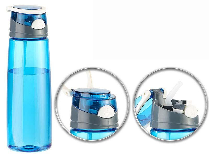 bpa freie kunststoff trinkflasche einhand verschluss 700. Black Bedroom Furniture Sets. Home Design Ideas